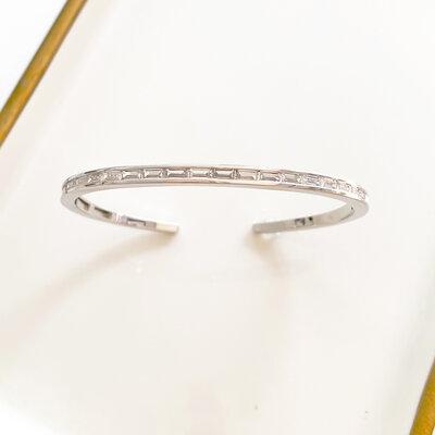 Bracelete Navetes Ródio