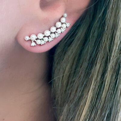 Ear Cuff Mini Perolinhas