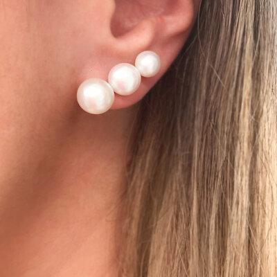 Ear Cuff 3 Pérolas