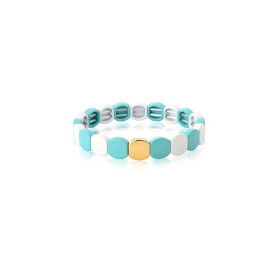 Pulseira Silicone Colored Blocks