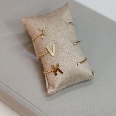 Bracelete Letra e Ponto de Luz Personalizado - Sob Encomenda