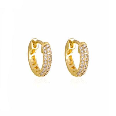 Argola Dourada Prata 925