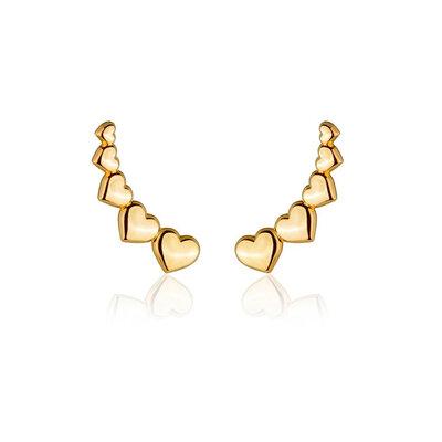 Ear Cuff Corações Ouro
