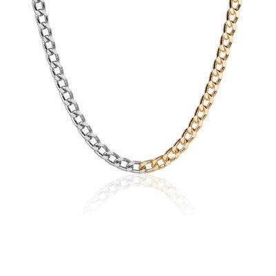 Colar Elos P Golden and Silver