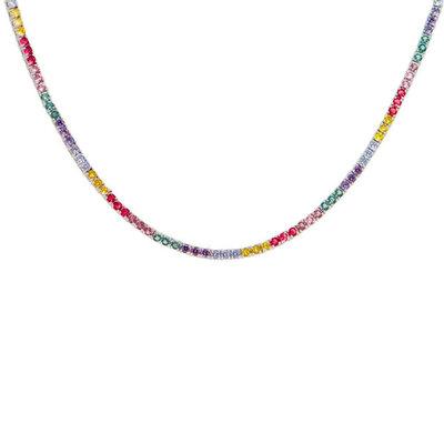 Colar Riviera Rainbow Prata 925