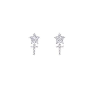 Brinco Star and Letter Prata 925