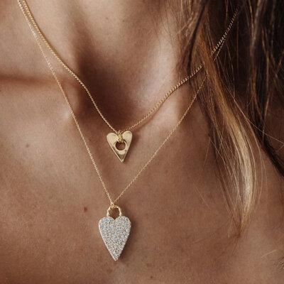 Colar Bright Heart Ouro M