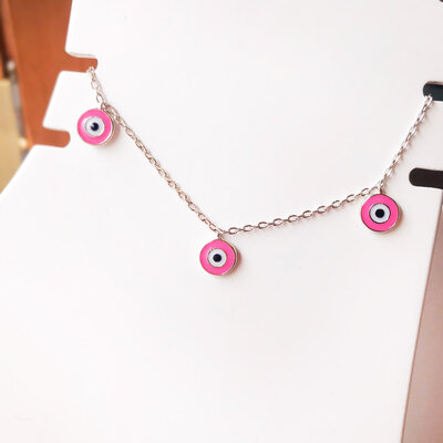 Tornozeleira Olho Grego Rosa G