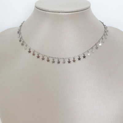 Choker Little Stars Prata 925
