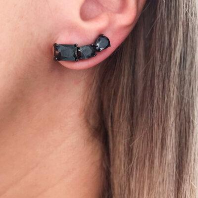 Ear Cuff Black Forms