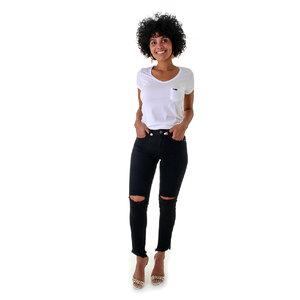 Calça Feminina Leg Maxi Jeans Black Blue