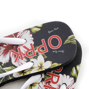 CHINELO FEMININO SLIM ESTAMPA HIBISCO OPRK