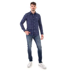 Camisa Masculina Xadrez Bicolar