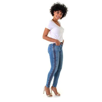 Calça Jeans Feminina Faux Emana PU
