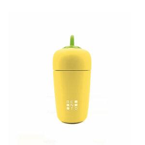 Garrafa Térmica Bento Veggie - Amarela