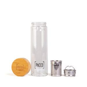 Garrafa Perfect Tea Bamboo - Parede dupla - 450ml