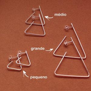 Argola Triângulo Aberto Pequeno