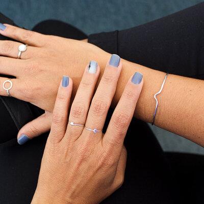Bracelete Triângulo Aberto Prata