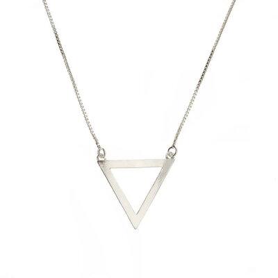 Colar Beshi Triangulo Prata
