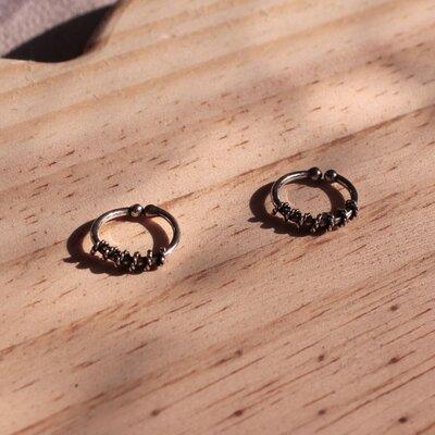Piercing Fake Espiral Prata 925
