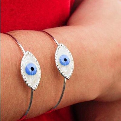 Bracelete Olho Grego Prata
