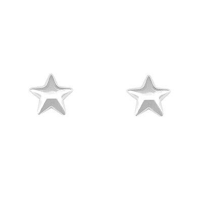 Brinco Sky Estrela Médio Prata