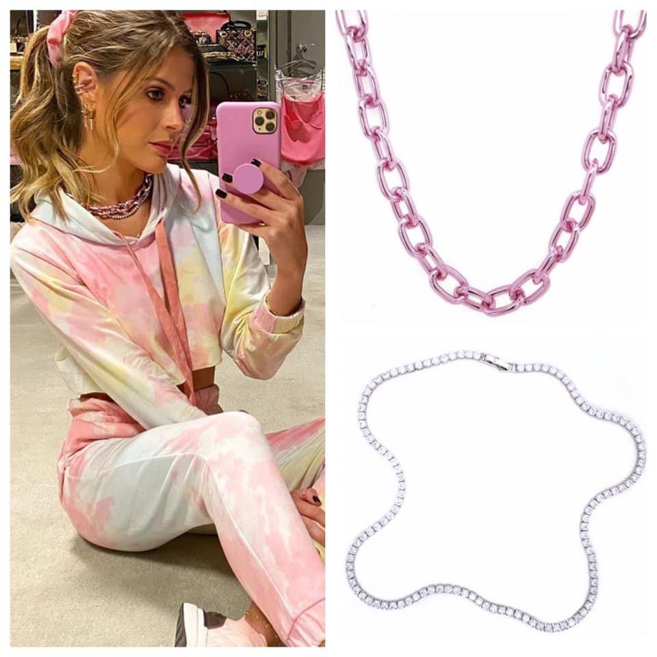 Lala Rudge usa: Pink chain + Riviera