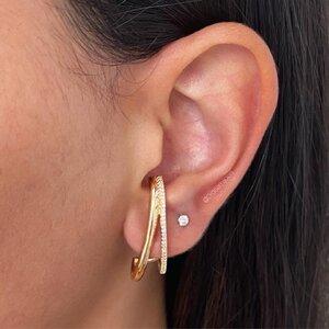 Earhook Duplo Dourado