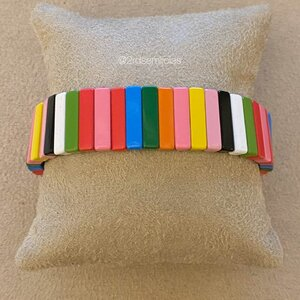 Pulseira Bangle Colorida