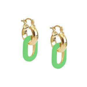 Argola Clip Verde Neon