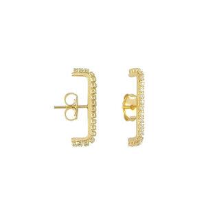 Earhook Cravejado Dourado