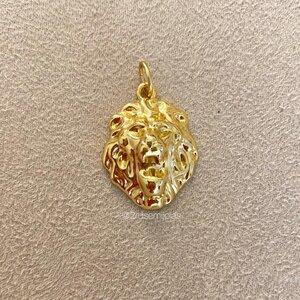Pingente Leão Vintage Dourado
