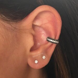 Piercing Três Camadas Black & White - Prata 925