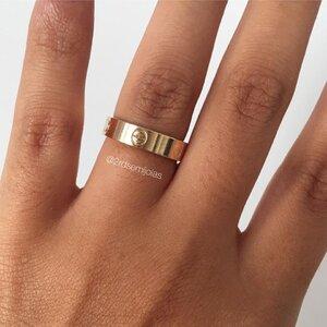 Anel Cartier Dourado