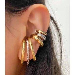 Piercing Earhook Falso Torcido Ródio