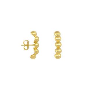 Brinco Earhook Bolinhas Dourado