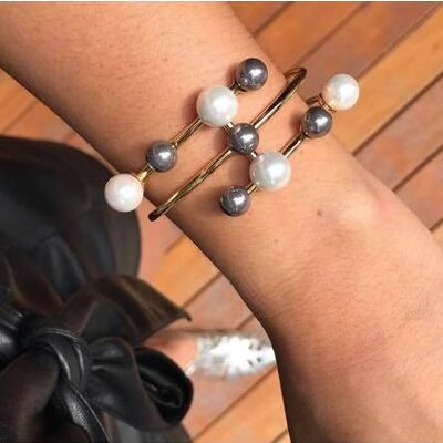 Bracelete Pérolas Shell Duo Elegance