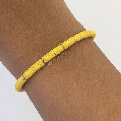 Pulseira Summer Pastilhas Amarela