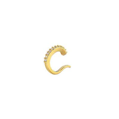 Piercing Argola Cravejada Fina Dourada