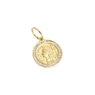 Pingente Medalha Moeda Índio