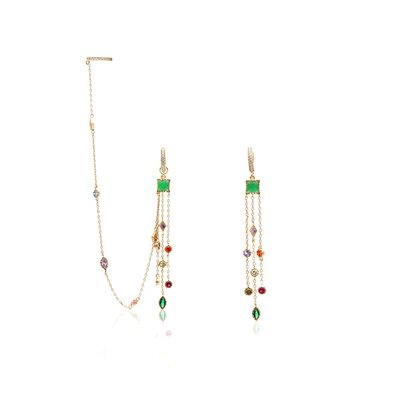 Argola Colors Ear Chain