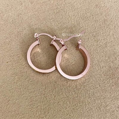 Argola Clip Baby Pink