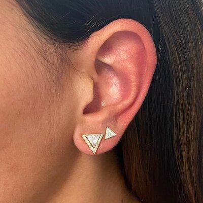 Brinco Triângulo Cristal