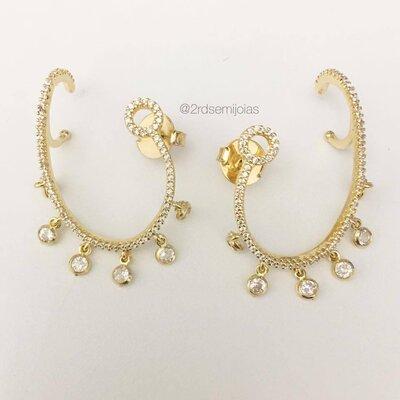 Brinco Ear Piece Tiffany Dourado