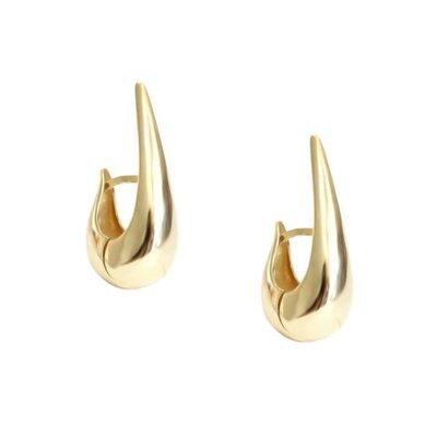Argola Bold Gota Earhook Ouro