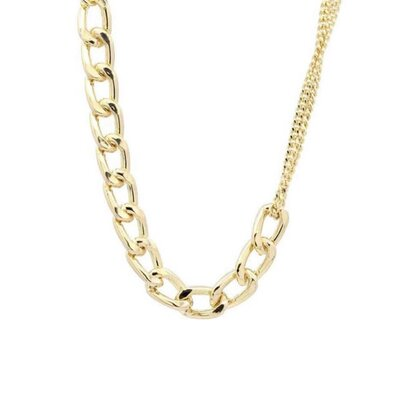 Colar Duo Chain Grumet Dourado