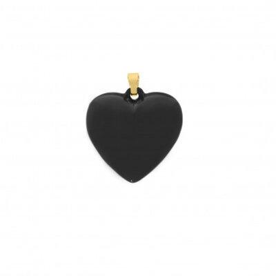 Pingente Coração Negro