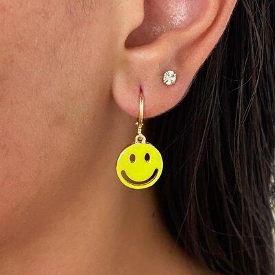 Argolinha Smile Amarelo Neon