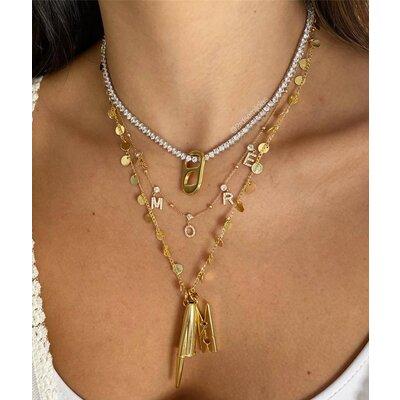 Colar AMORE Dourado - Prata 925