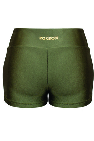 Shorts Dupla Face Verde Militar e Preto